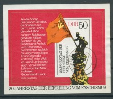 BL6-214 DDR, EAST GERMANY MI M/S,BLOCK 42 30th ANNI FREE FROM FACISM. USED, OBLTERE, GEBRUIKT. - [6] Oost-Duitsland