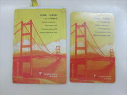 Prepaid Phonecard,bridge The Lantau Link,landmarks Of Hong Kong, Set Of 1,mint In Packet - Hong Kong