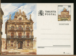 ESPANA - Intero Postale - PAMPLONA - EUNATE  Chiesa Ottagonale - Camino Di Santiago De Compostela - Klöster