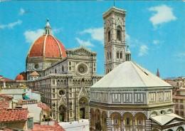 FIRENZE   DUOMO  BATTISTERO  E  CAMPANILE  DI GIOTTO     2 SCAN   (VIAGGIATA) - Firenze