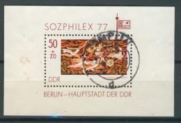 BL6-219 DDR, EAST GERMANY MI M/S,BLOCK 48 SOZPHILEX 77. USED, OBLTERE, GEBRUIKT. - Blokken