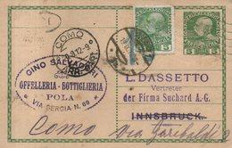 CROATIA  CROAZIA  POLA  Offelleria Gino Salvadori  1912 - Croatia