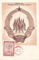 D26727 CARTE MAXIMUM CARD 1948 YUGOSLAVIA - COAT OF ARMS ORIGINAL - Maximum Cards