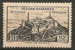 Timbres - France (ex-colonies Et Protectorats) - Fezzan - 10 C. - N° 28 - Avec Trace De Charnière - - Fezzan (1943-1951)