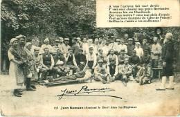 Cpa Jean Rameau Chantant Le Berri Dans Les Hôpitaux - Cachet Bataillon D' Etapes Du 7° Génie 1916 - France