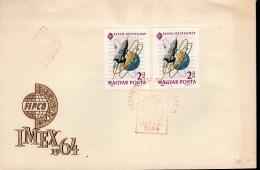 Ungarn 2056 A + B Briefmarkenausstellung Used Gestempelt - FDC