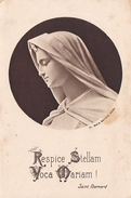 IMAGE RELIGIEUSE  RESPICE STELLAM VOCA MARIAM  SAINT BERNARD PAROISSE DE BLAIN SOUVENIR JUBILE 1951 - Devotieprenten