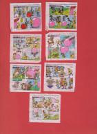 Lot De 7 Images Malabar Et Les Grands Héros (série Complète) - Confiserie & Biscuits