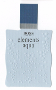 Cartes Parfumées Carte ELEMENTS AQUA De   HUGO BOSS - Modern (from 1961)