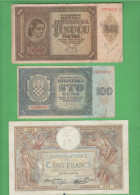 War Currency France + Hrvatska Croatia - Altri
