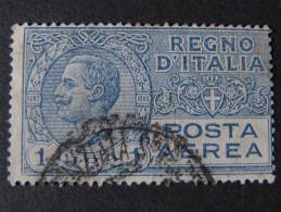 "ITALIA Regno Aerea-1926-28- ""Effigie"" £. 1 US° (descrizione) - 1900-44 Vittorio Emanuele III"