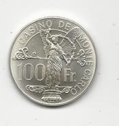 MONACO - RARE 100 FRANCS ARGENT Du CASINO De MONTE CARLO - 20g - Autres