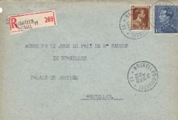 Leopold III / Enveloppe Recommandé De BXL - 1934-1935 Léopold III