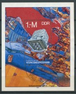 BL6-223 DDR, EAST GERMANY MI M/S,BLOCK 52 AEROSPACE, RAUMFAHRT, INTERKOSMOS. USED, OBLTERE, GEBRUIKT. - Blokken