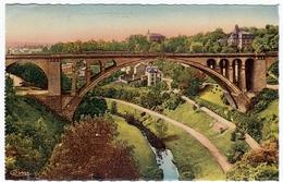 LUSSEMBURGO - LUXENBOURG - LE PONT ADOLPHE - 1951 - Formato Piccolo - Cartoline