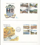 South Africa Transkei 159-162 Bridges 167-170 Historical Port St Johns Day Of Issue Cancel 1985-1986 A04s - Transkei