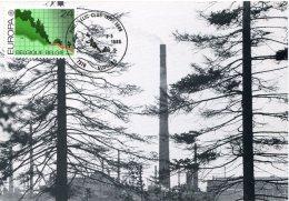 15446  Belgium, Maximum 1986  Protection De La Nature,  Nature Protection - Umweltschutz Und Klima