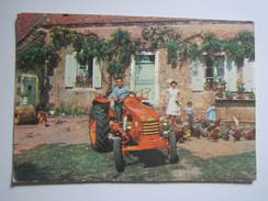 Carte Publicitaire Tracteur RENAULT 1960 - Maurice GUILLEMIN Agriculteur HUMES (Haute Marne) - Sin Clasificación