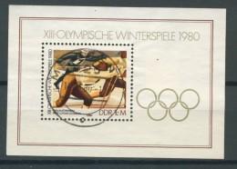 BL6-228 DDR, EAST GERMANY MI M/S,BLOCK 57 SPORT, OLYMPICS LAKE PLACID 1980. USED, OBLTERE, GEBRUIKT. - Blokken