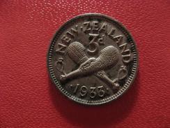 Nouvelle Zélande - 3 Pence 1933 George V 1698 - Nouvelle-Zélande