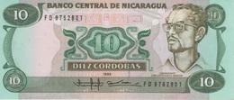 (B0648) NICARAGUA, 1985 (1988). 10 Cordobas. P-151. UNC - Nicaragua