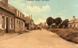 """80 WOINCOURT ( Somme )   Rue Voltaire . """" Canton De Friville - Escarbotin """"  ( Carte Glacée ) - Francia"""