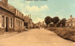 "80 WOINCOURT ( Somme )   Rue Voltaire . "" Canton De Friville - Escarbotin ""  ( Carte Glacée ) - France"