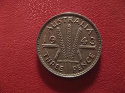Australie - 3 Pence 1943 George VI 1718 - Monnaie Pré-décimale (1910-1965)
