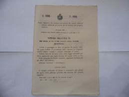 REGIO DECRETO COLLEGIO ELETTORALE DI LUCCA  ELEZIONE DEL PROPRIO DEPUTATO 1903 - Decreti & Leggi