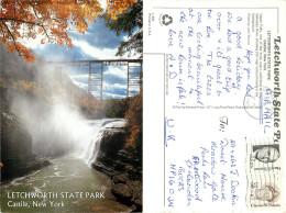 Letchworth State Park, Castile, New York, United States US Postcard Posted 2001 Stamp - Other