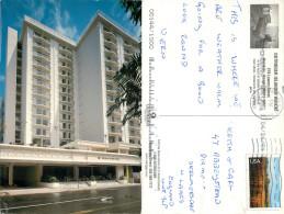 Outrigger Island Waikiki Hotel, Oahu, Hawaii, United States US Postcard Posted 2001 Stamp - Oahu