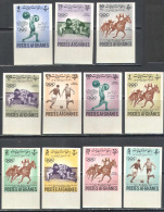 2888 Sport Olympic Games Football Soccer Horse 1962 Afghanistan 11v Set MNH ** Imperf Imp 22ME - Stamps