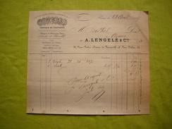 Facture 1887 Fabrique De Cylindres, Articles De Sainteté  A . Lengelé & Cie à Paris - Francia
