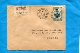Marcophilie-Lettre-REC-Haute Volta> Françe-cad Diapaga1963-stamps N°88 Serpentaire - Upper Volta (1958-1984)
