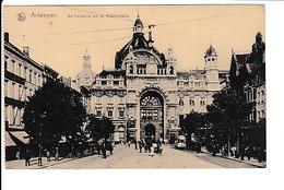 Antwerpen - Anvers - De Keyserlei - Tram - En De Middenstatie, Gelaufen Mit Feldpost Sonderstempel 24.6.1917 - Antwerpen