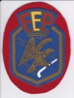 PARCHE DE TELA DE LA F.E.P. FEDERACIÓN ESPAÑOLA DE PATINAJE (HOCKEY) - Escudos En Tela