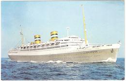 Holland-America Line S.S. Nieuw Amsterdam, Regular Transatlantic Servive And Luxury Cruises - Paquebots