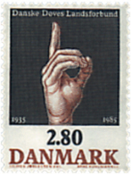 Ref. 96215 * NEW *  - DENMARK . 1985. 50th ANNIVERSARY OF THE ASSOCIATION FOR TH DEAF. 50 ANIVERSARIO DE LA ASOCIACION D - Unused Stamps