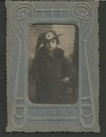 2FV1---   FOTO   VARIE,   FOTO CON CORNICE CON BAMBINO VESTITO DA BERSAGLIERE,  ANNI 40 - Army