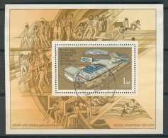 BL6-235 DDR, EAST GERMANY MI M/S,BLOCK 64 SPORTCENTER BERLIN . USED, OBLTERE, GEBRUIKT. - [6] Oost-Duitsland