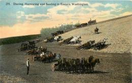 WASHINGTON DISCING HARROWING  AND SEEDING IN EASTERN - Etats-Unis