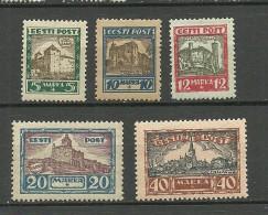 Estonia Estonie 1927 Castles Michel 63 - 67 * - Estonia