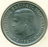 GREECE, 2 DRACHMAI 1967 KING KONSTANTINOS B, UNC - Grèce