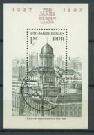 BL6-246 DDR, EAST GERMANY MI M/S,BLOCK 84 750th ANNI BERLIN. USED, OBLTERE, GEBRUIKT. - [6] Oost-Duitsland