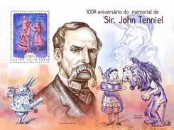 GUINEA-BISSAU SHEET. 100º ANIVERSARIO DO MEMORIAL DE SIR JOHN TENNIEL. 2014. PERFORADO NUEVO. - Guinée-Bissau