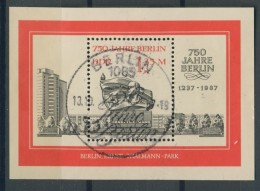 BL6-250 DDR, EAST GERMANY MI M/S,BLOCK 89 750th ANNI CITY OF BERLIN. USED, OBLTERE, GEBRUIKT. - [6] Oost-Duitsland