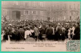 Sedan  - Ardennes -  Cérémonie Patriotique Du 3 Septembre 1905 - Place Turenne  - Animée - - Sedan