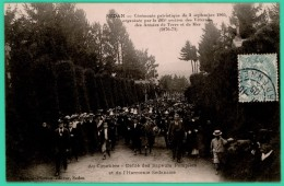 Sedan  - Ardennes -  Cérémonie Patriotique Du 3 Septembre 1905 - Au Cimetière  Avec Les Sapeurs Pompiers  - Animée - - Sedan