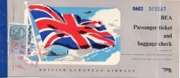 British European Airways (BEA) -   Paris- Nicosia, 1952 ( Timbre Fiscal 80 Francs ) - Plane