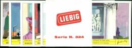 FIGURINE LIEBIG- SERIE N. 1854 - STORIA DELLA MACCHINA  PER SCRIVERE- CON FASCETTA ORIGINALE - Liebig